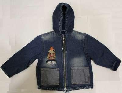 Джинсовая утепленная куртка на мальчика