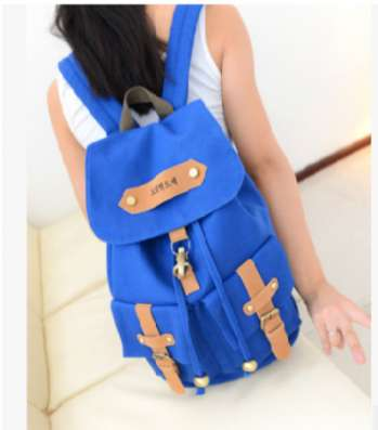 Городской рюкзак хипстера белый бежевый синий