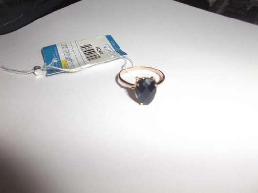 Золотое новое кольцо с натуральным сапфиром