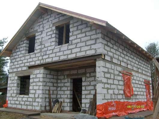 Строительные работы по монтажу Загородных домов,бань,беседок