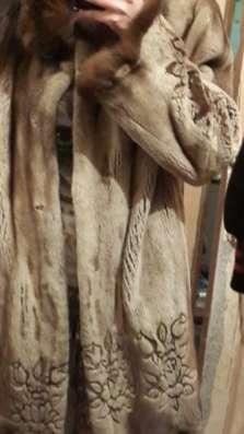 Шуба норковая с лазерным рисунком в г. Зима Фото 3