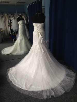 Свадебное платье-русалка (рыбка, годэ) в Москве Фото 1