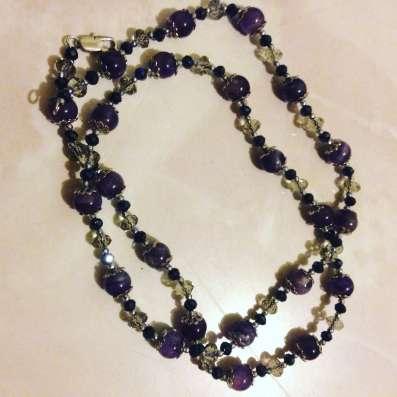 Ожерелье из натурального аметиста