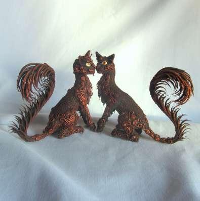 Кошки из полимерной глины