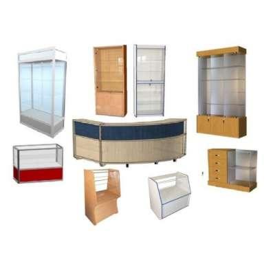 Стеллажи, витрины и прилавки из ДСП
