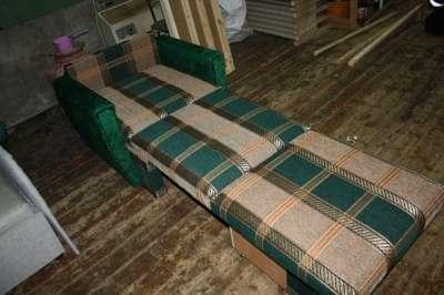 Выкатное кресло-кровать плюш с шениллом