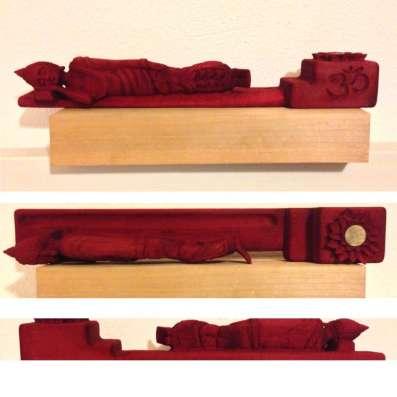 Подставка под благовония, лежащий Будда