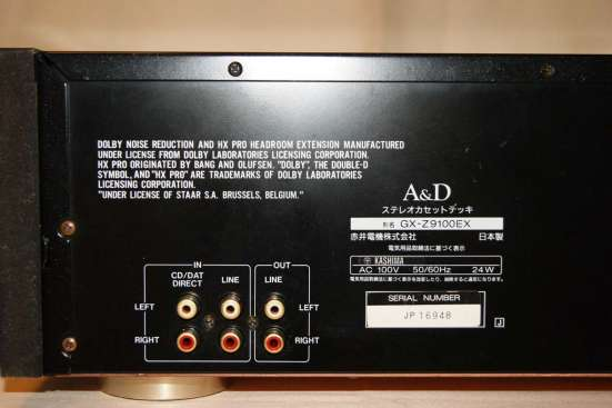 A &D GX-Z9100EX. Made In Japan. 100V
