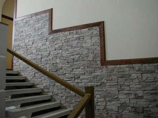 Облицовка стен офисов искусственным камнем в Чите