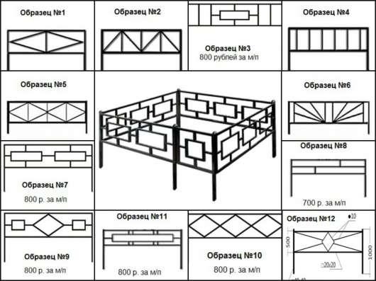 Металлические оградки