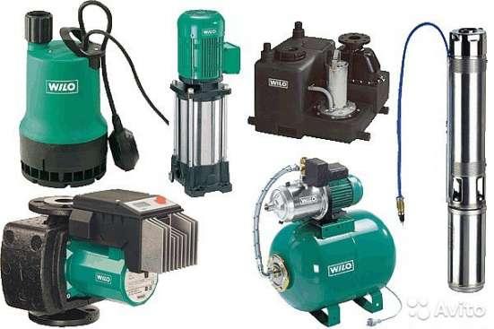 Насосы WILO для водоснабжения, водоотведения и др