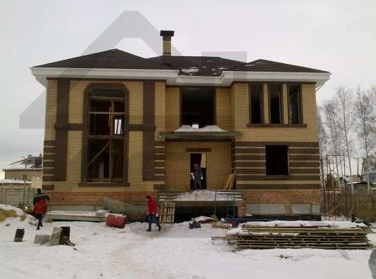 Оштукатуривание фасада, монтаж декоративных элементов
