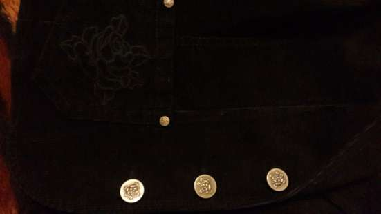 Вельветовый пиджак с розами