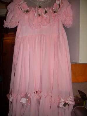 Детское праздничное розовое платье на девочку 6-8 лет в Москве Фото 2