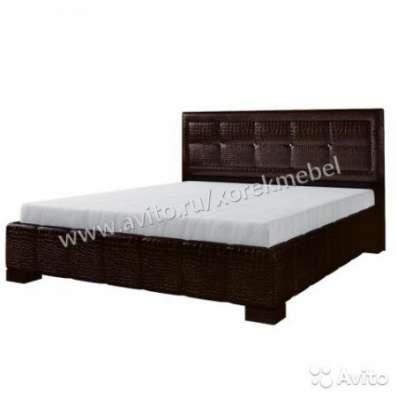 """Кровать 160х200 и кристаллами """"Энджи Кроко"""