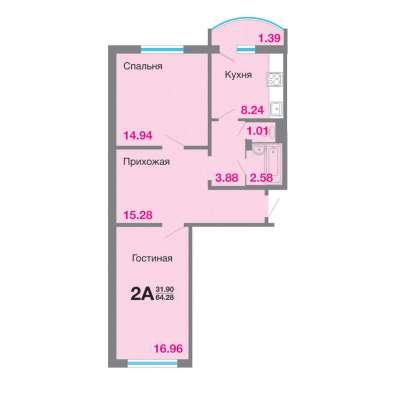 Продам квартиру в новостройке Мкр. «Садовый», Корпус 8