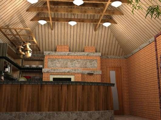 Зимняя кухня с русской баней.