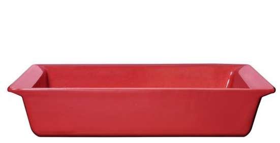 Керамическая гастроемкость 1/3-65 красная, 325х175х65мм в Санкт-Петербурге Фото 2
