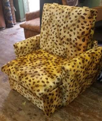Кресло-кровать 90 Плюш Леопардд