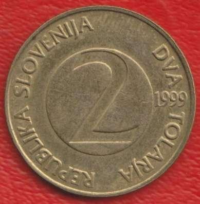 Словения 2 толара 1999 г. Ласточка деревенская в Орле Фото 1