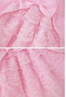 Платье праздничное, нарядное, с кружевом, розовое в г. Днепропетровск Фото 3