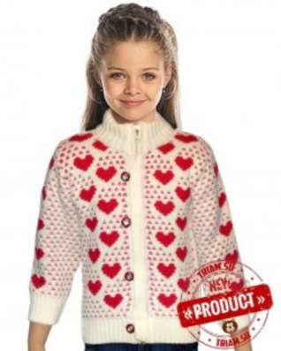 Детские кофты, свитера для девочек оптом