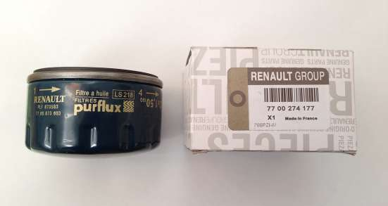 Фильтр масляный RENAULT/LADA Largus 7700 274 177 оригинал