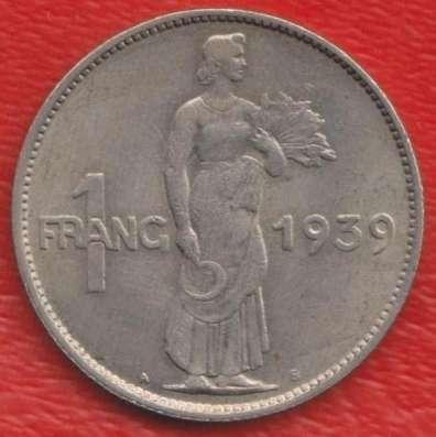 Люксембург 1 франк 1939 г