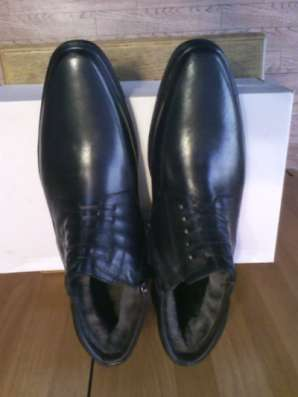 Ботинки зимние кожаные на меху новые