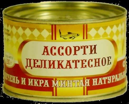 """Печень и икра минтая натуральные """"Морозко"""", 240 г, Камчатка"""