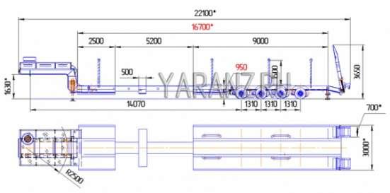 17. Трал раздвижной 48 тонн 16,7 метров в Челябинске Фото 3