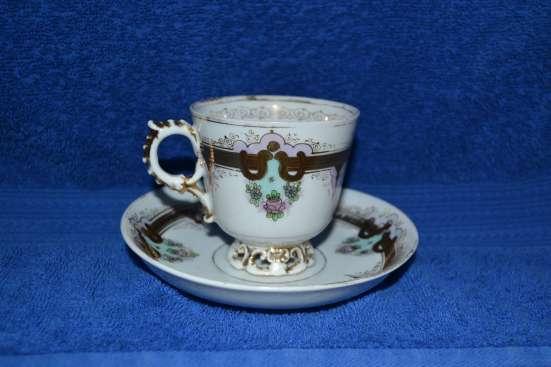Чайная пара фабрика Гавриила Маркова 19 век