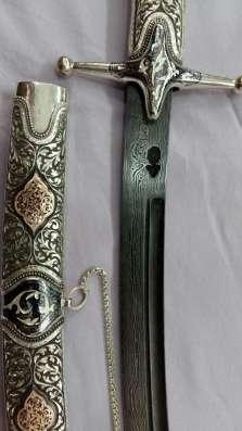 Сабля сувенирная, серебряная в Москве Фото 4