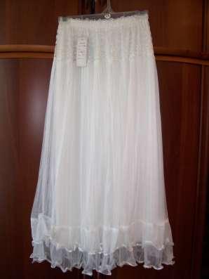 Юбка белая макси, размер 46-50