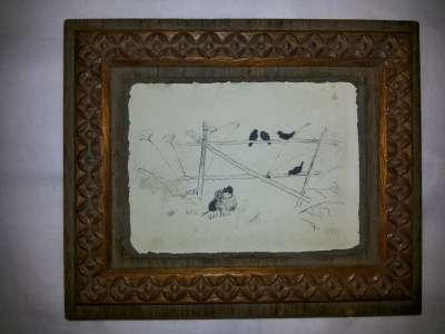 """Птички"",рисунок тушью»"
