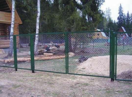 Монтаж заборов и ограждений из профлиста, рабицы, штакетника в Нижнем Новгороде Фото 2