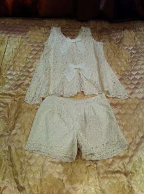 Ажурный костюм(шорты и кофточка).Lapin House. Р.152