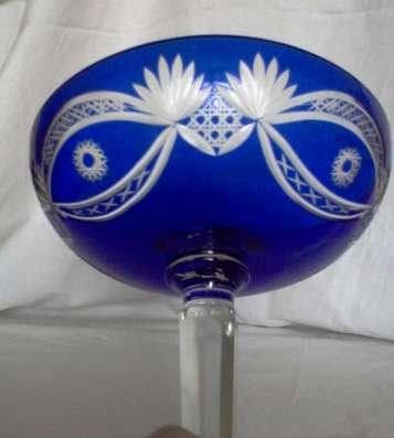 Кувшин резной синего стекла 1950 года в Тамбове Фото 5