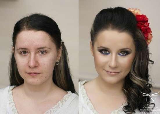 Окрашивание, мелирование, макияж в салоне красоты Нимфея