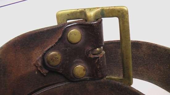 Ремень кожаный с однозубой пряжкой лендлиз.