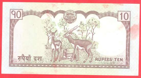 Непал 10 рупий 2008 г в Орле Фото 1