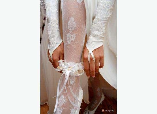 Свадебные перчатки (молоко)