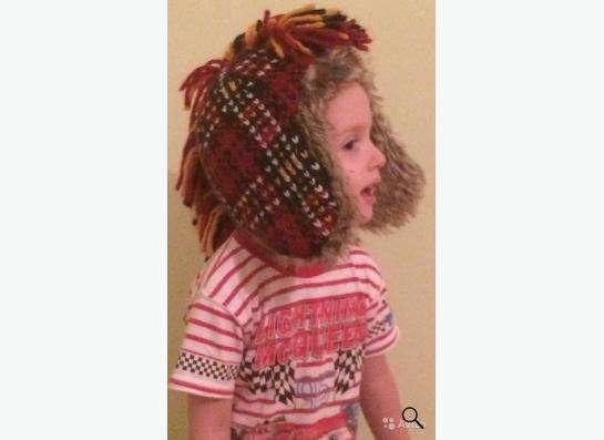 Детская шапка зимняя размер S/M 54 см