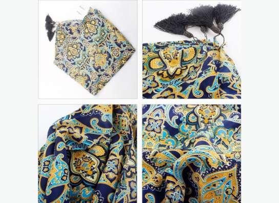 шарф-платок с кисточками