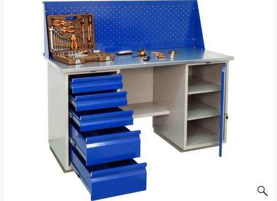 Верстак двутумбовый  шкаф и ящик 160Sh+WD1+WD5